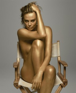 charlize-theron-gold